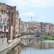Stock Photo: Houses over Onyar River in Girona.