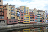 Houses over Onyar River in Girona. — Stock Photo