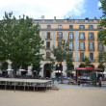 Street in center of Girona — Stock Photo