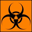 Stock Vector: Biohazard orange circle icon