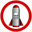 Stock Vector: No chemical weapon sign