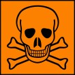 Stock Vector: Deadly danger sign