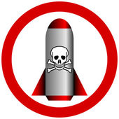 No chemical weapon sign — Stock Vector