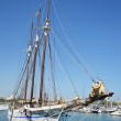 Stock Photo: Sailboat in the port of Barcelona