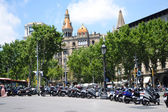 Street in center of Barcelona — Stock Photo