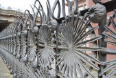 Metal fence in Park Guell — Stock Photo