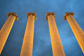 Columns on Square of Spain in Barcelona. — Stock Photo