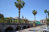 Street in center of Barcelona — Stockfoto