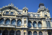 Palace on the embankment in Barcelona — Stock Photo