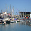 Sailboats in port of Barcelona — Stok Fotoğraf #37758155