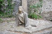 Statue in the Monastery of Montserrat — Stock Photo