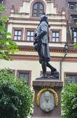 статуя иоганна вольфганга гете в лейпциге. — Стоковое фото