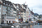 Embankment in Lucerne, Switzerland. — Stock Photo