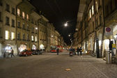 Street in center of Bern at night — Stock Photo