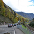 Stock Photo: Autobahn in Swiss Alps