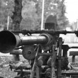 The old antiaircraft gun from World War II — Stock Photo #39429349