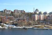 Жилой район на окраине города Стокгольм — Стоковое фото