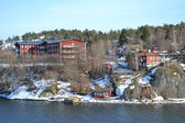 Residential area on the outskirts of Stockholm — Stock Photo