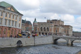Embankment in cental part of Stockholm — Stock Photo