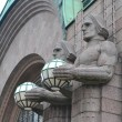 Statues adorn main railway station, Helsinki — Stock Photo #39824609