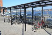 Bicycle parking in Stockholm — Stock Photo