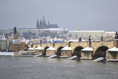 Prague and the Vltava River — Zdjęcie stockowe