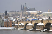 Prague and the Vltava River — 图库照片