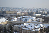 Cityscape of Prague at winter — Stock Photo
