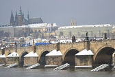 Prague and the Vltava River — Stok fotoğraf