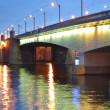 Stock Photo: Alexander Nevsky Bridge at night