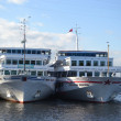 Stock Photo: River cruise ships