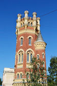 Water (Pristrelnaya) Tower in the Gothic style. — Stock Photo