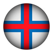 Faroe Islands flag button. — Vecteur
