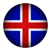 Iceland flag button. — Stock Vector
