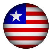 Liberia flag button. — Stock Vector