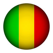 Mali flag button. — Stock Vector