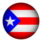 Puerto Rico flag button. — Stock Vector
