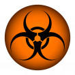 Biohazard orange circle icon — Stock Vector