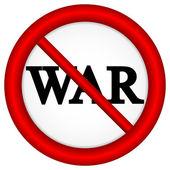 No war sign — Stock Vector