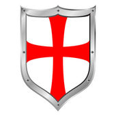 Knights Templar shield — Stock Vector