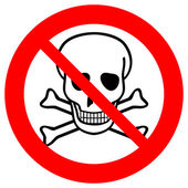 No chemical weapons sign — Stock Vector