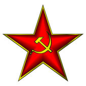 Communist red star — Stock Vector