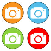 Camera buttons set — Stock Vector