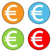 Euro knoppen set — Stockvector