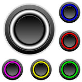Empty buttons set — Stock Vector