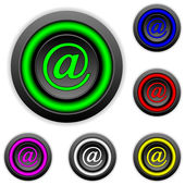 Email buttons set — Stock Vector