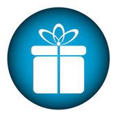Gift button — Stock Vector