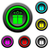 Gift buttons set — Vecteur