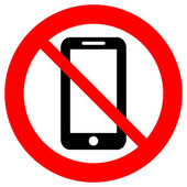 No phone vector sign — Vector de stock