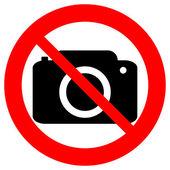 No photo camera vector sign — Stock Vector
